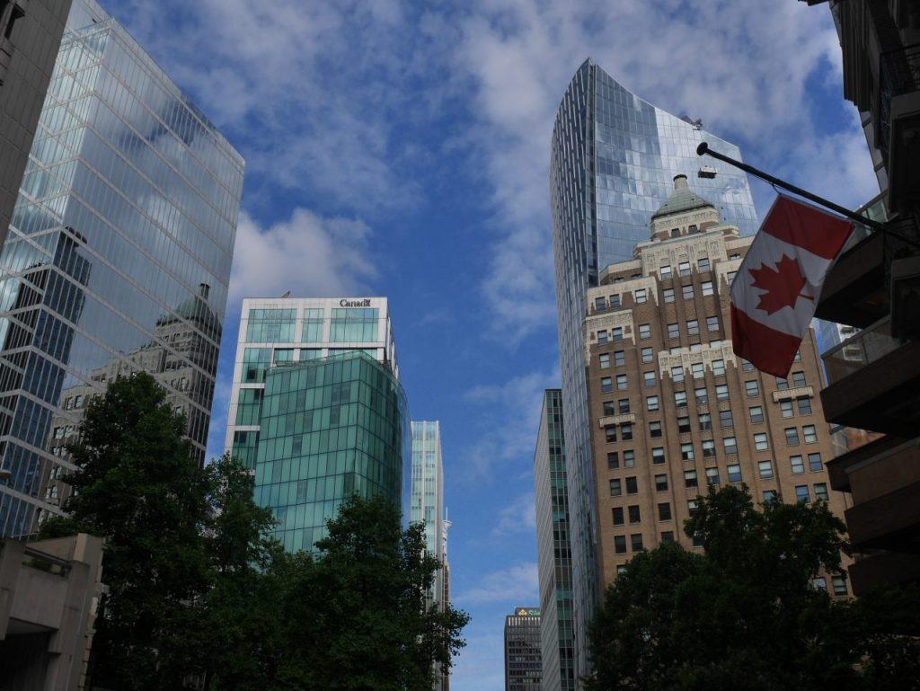 Les tours dans le centre de Vancouver