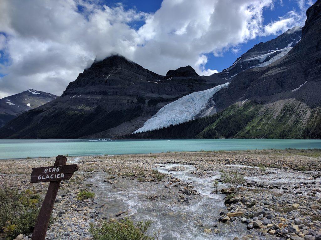 Le glacier et le lac Berg