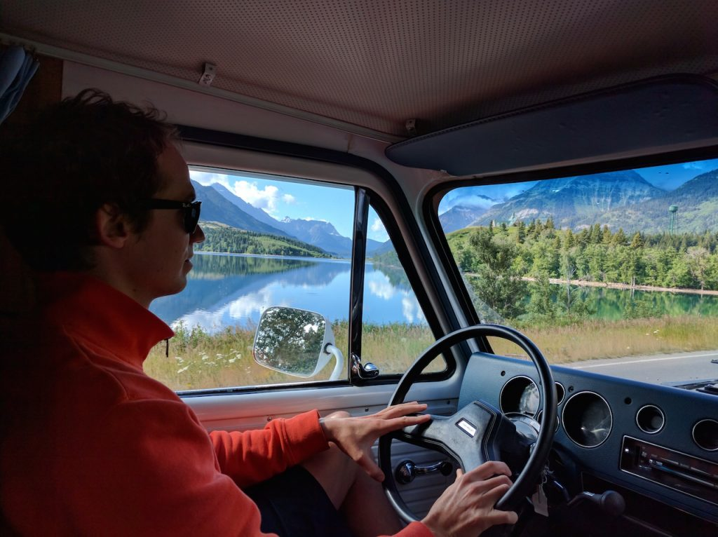 Arrivée à Waterton Lakes national park