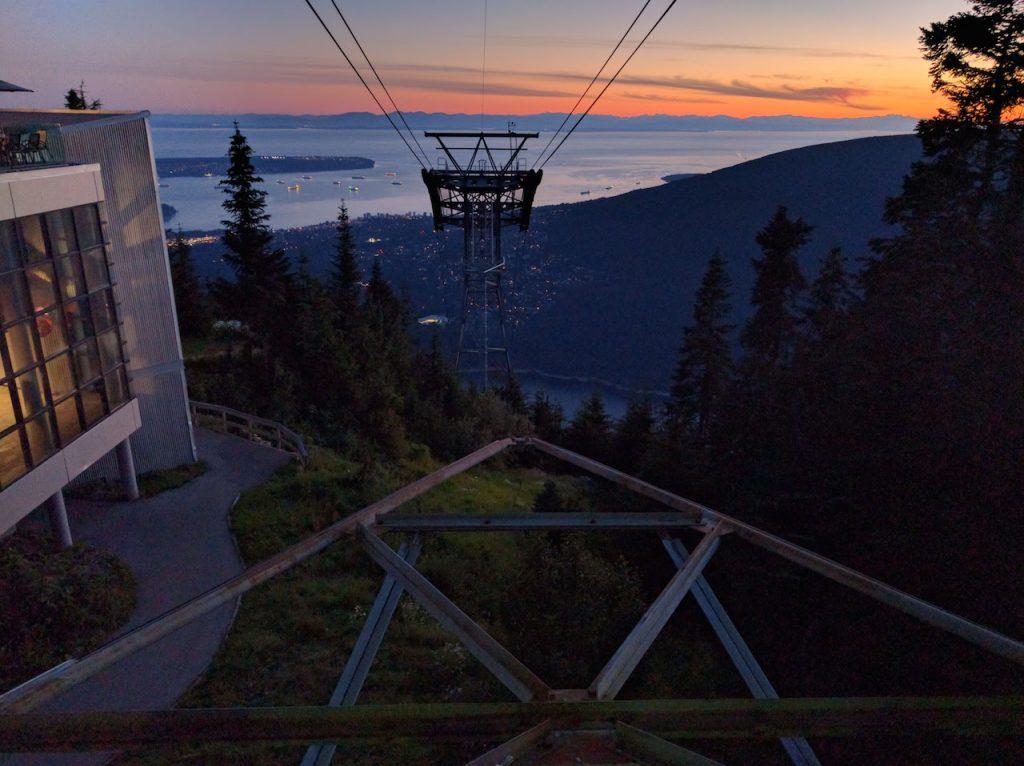 Funiculaire du Mont Grouse à Vancouver