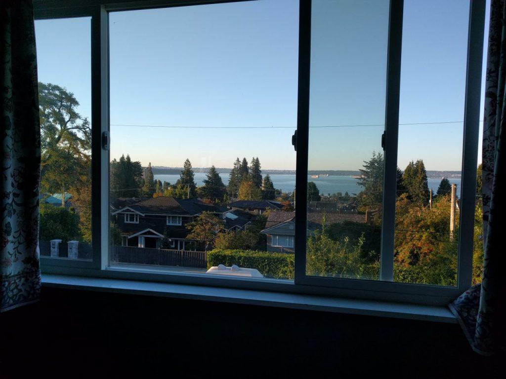 vue sur la baie de Vancouver