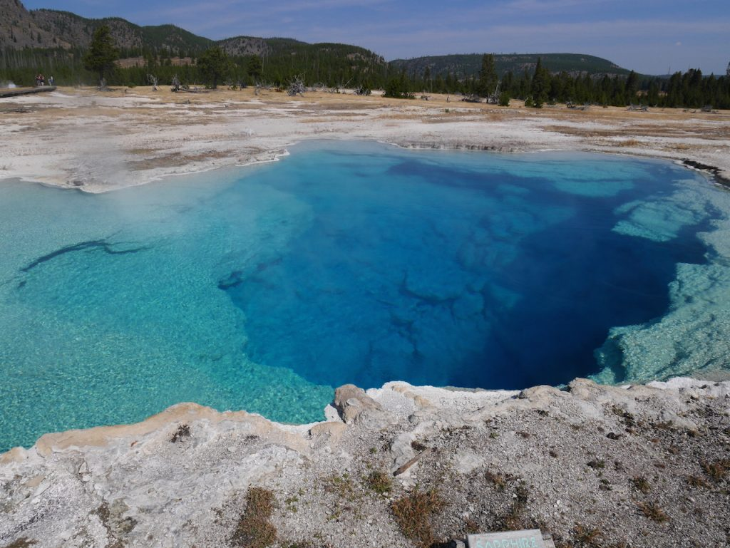 Les piscines de Yellowstone