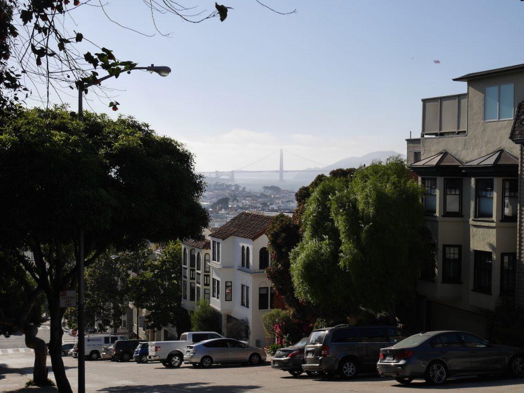 Golden Gate depuis Lombard Street