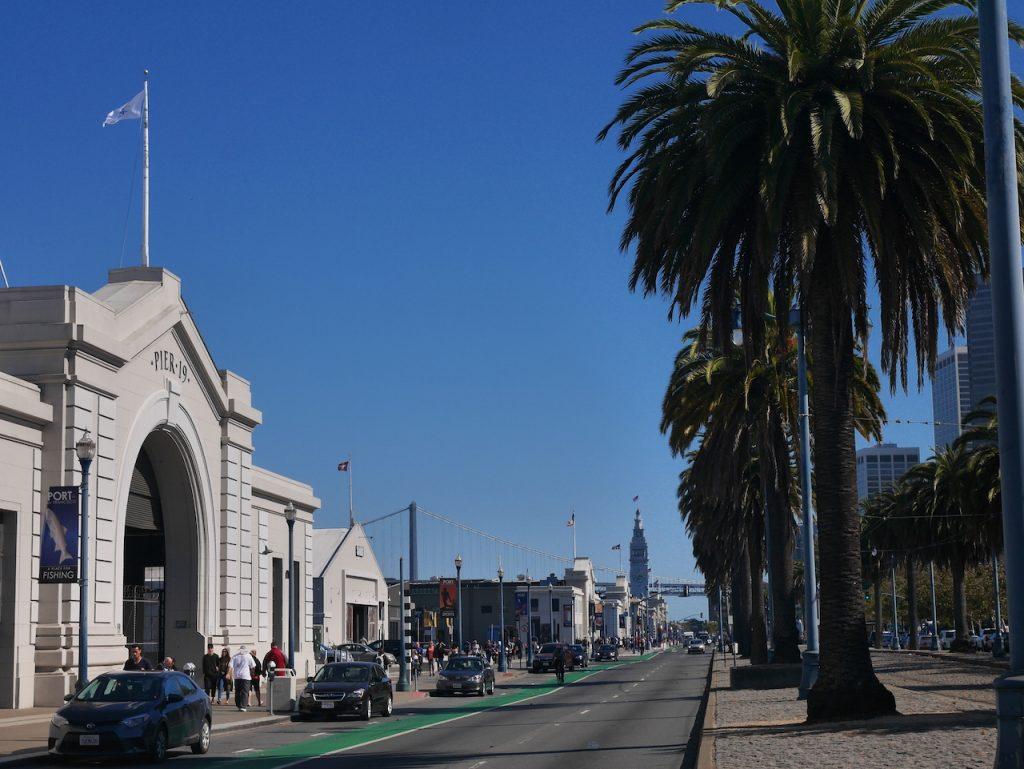 Le Waterfront de SF avec au fond le Ferry Building