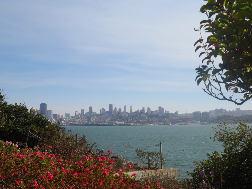 Vue de San Francisco depuis la prison d'Alcatraz