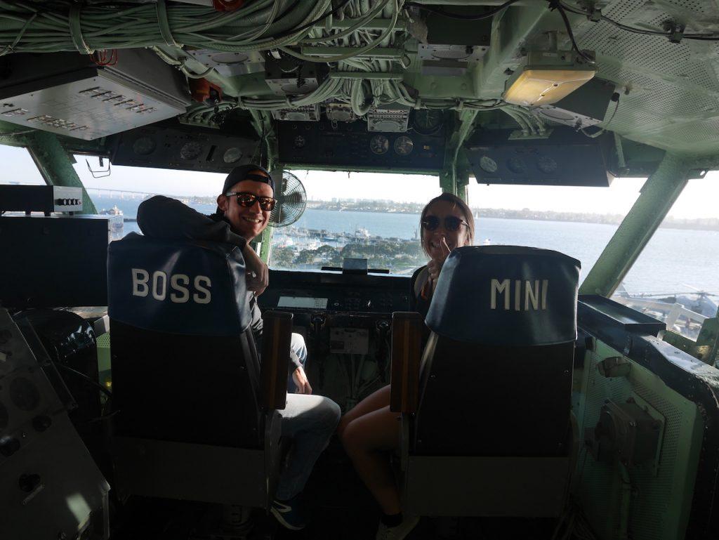 Air Boss et Mini boss sur le USS Midway