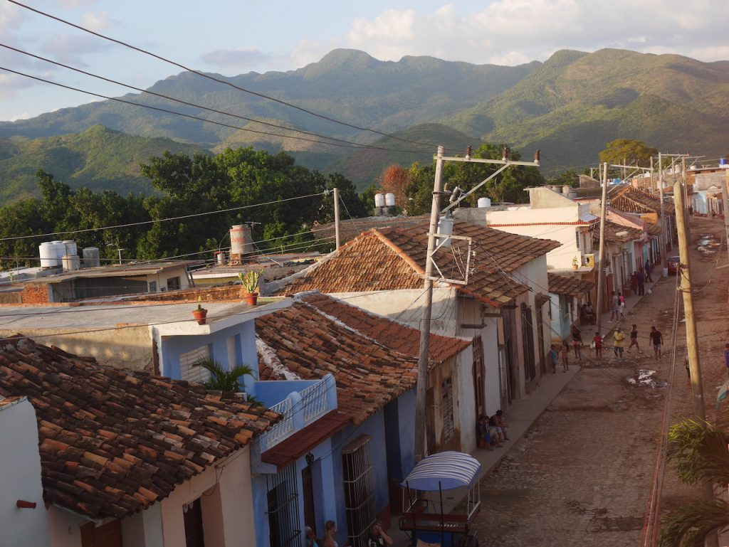 La Sierra del escambray vue depuis notre Casa
