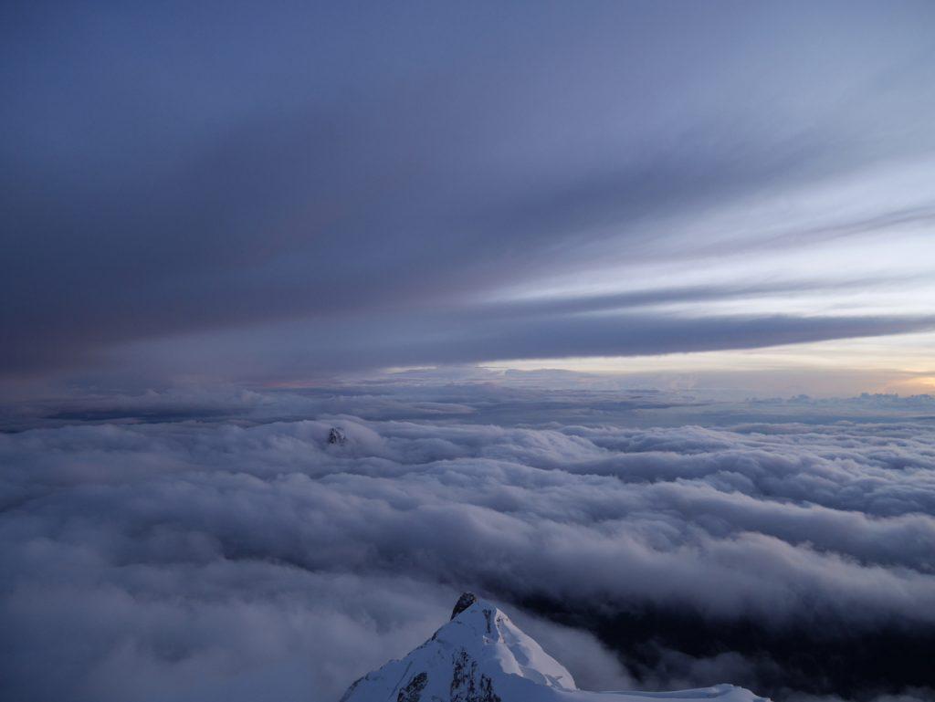 Vue depuis sommet Huayna Potosi, côté La Paz