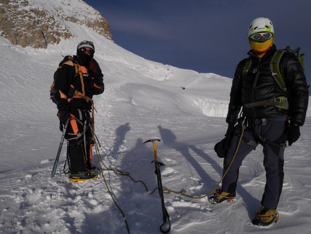 descente glacier Huayna Potosi