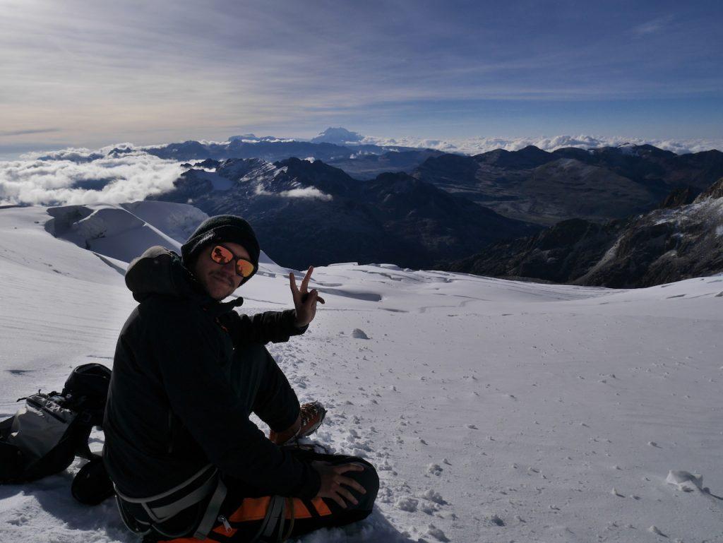 Il fait chaud au sommet du Huayna Potosi