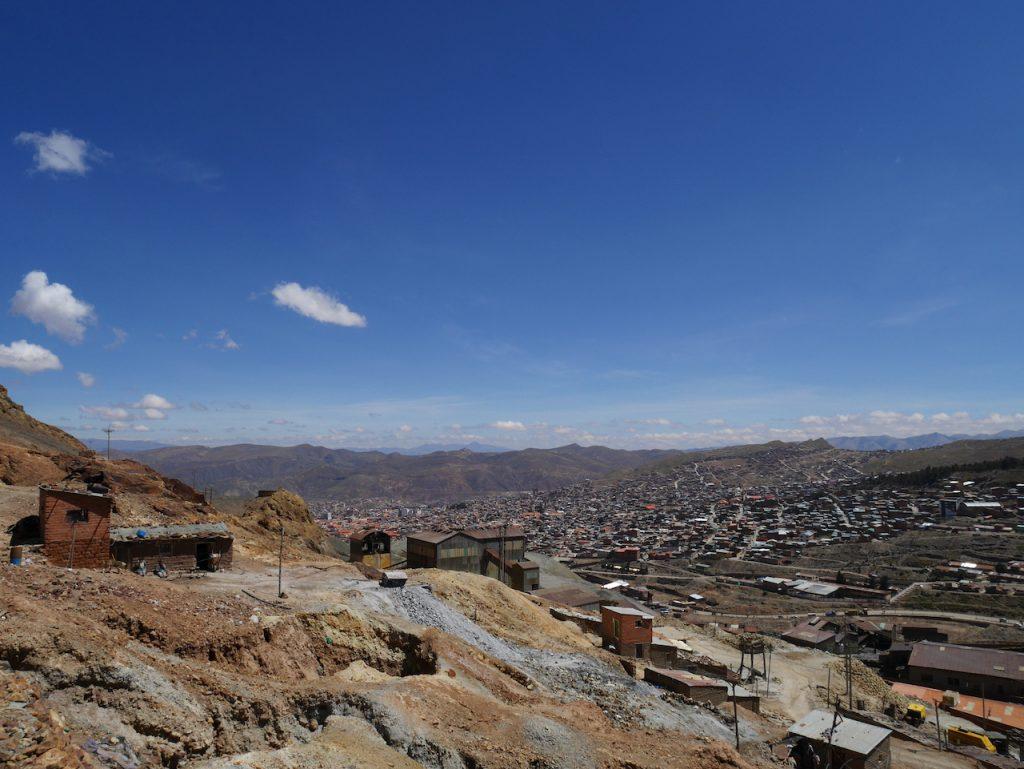 Vue sur Potosi depuis Cerro Rico