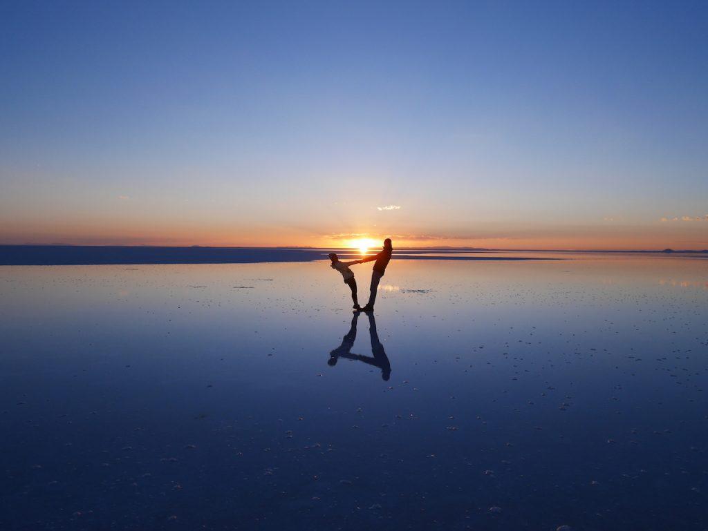 Lever du soleil Salar de Uyuni
