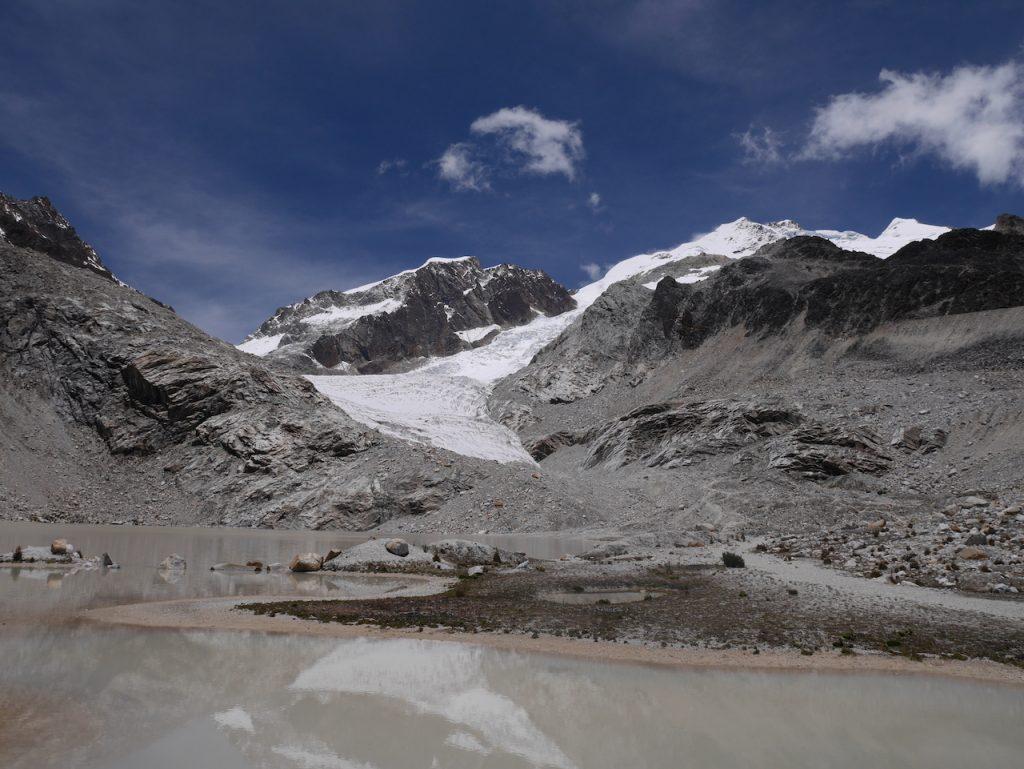 Le glacier bas, entraînement pour le sommet