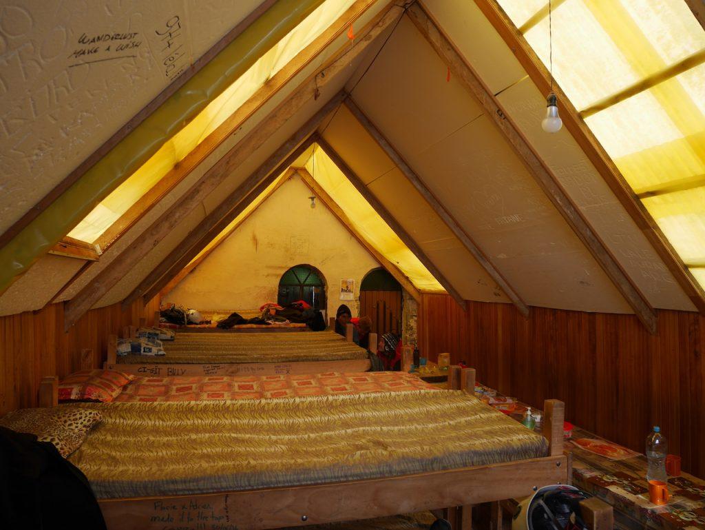 Dortoir Rock Camp Huayna Potosi