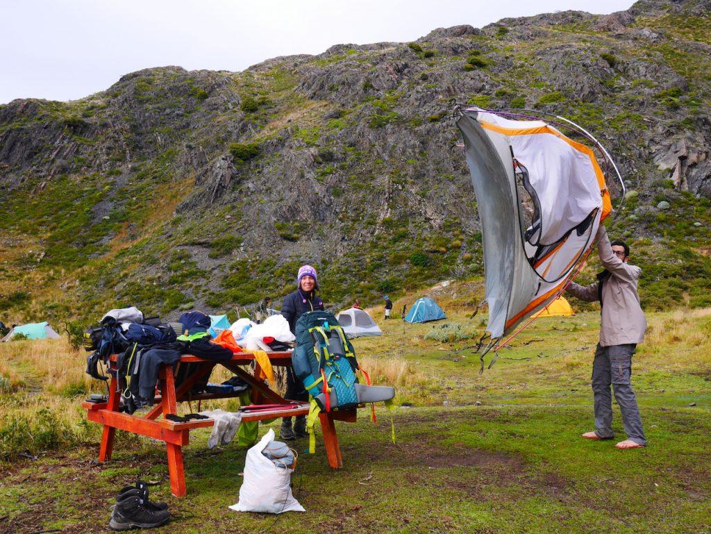 Camping Paine à Torres del Paine