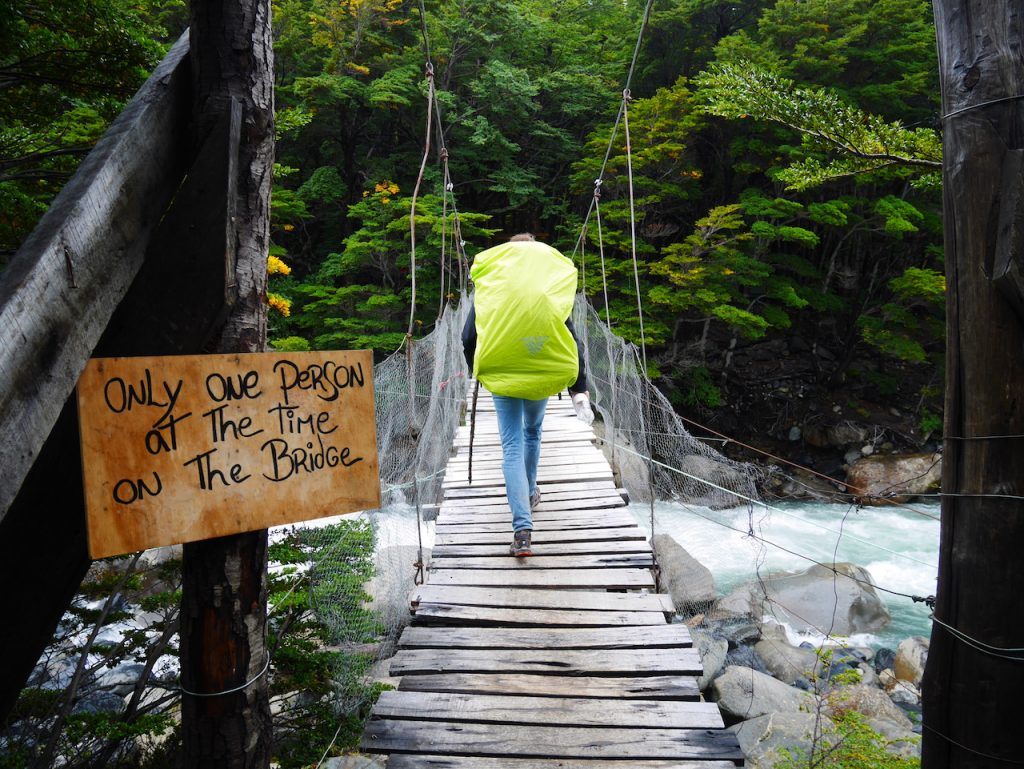 Pont suspendu campamento Italiano