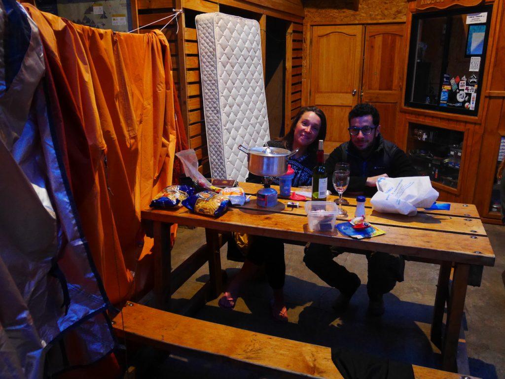 cuisine refuge Los Cuernos