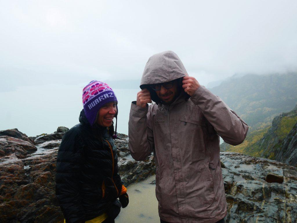 Pluie glacier Grey Torres del Paine